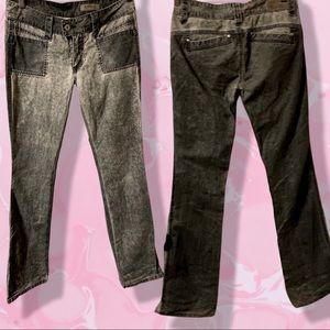 Y2K size 27 Buffalo hip Hugging silver  pants NWOT